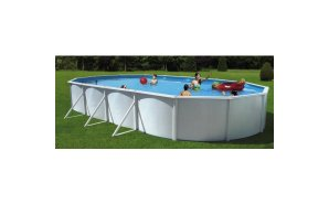 OVAL WHITE Pools - 12mx 4.57m x 1.2m