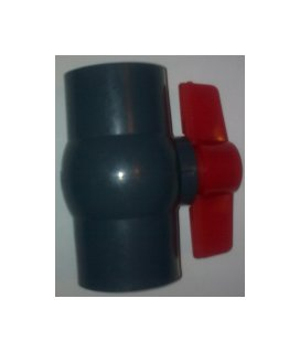 "1.5"" GREY Compact Ball Valve (Solvent)"