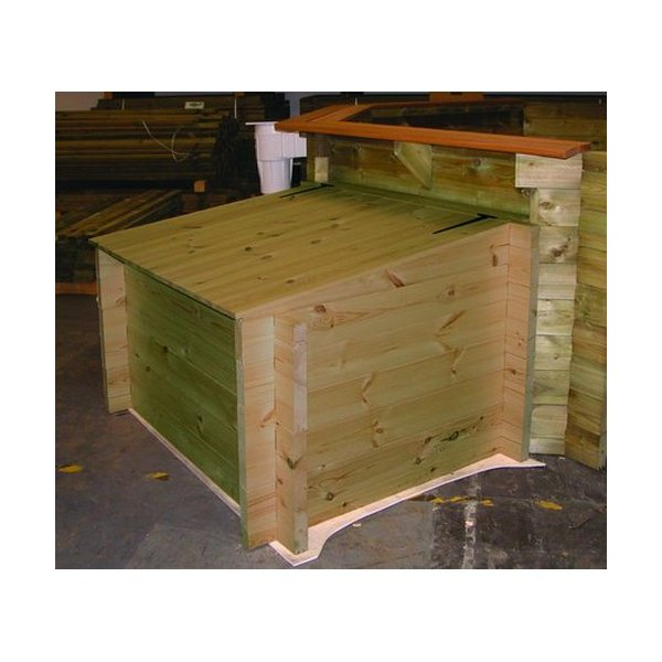 Wooden Pool Equipment Housing