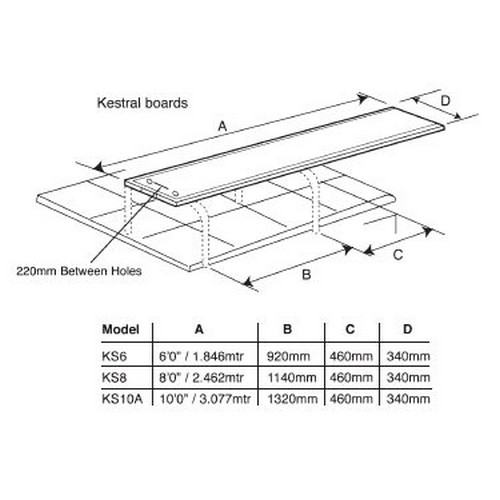 "Kestral Diving Boards - 6'0"" Diving Board only"