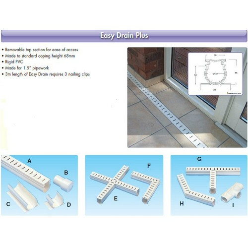Drains/Easy Drain Plus - (Code PED100) 3m Lengths (A)