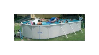 White deeper Magnum Oval Pool